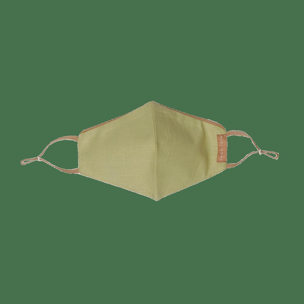 Lime Green Breathable Cotton Mask - Regular
