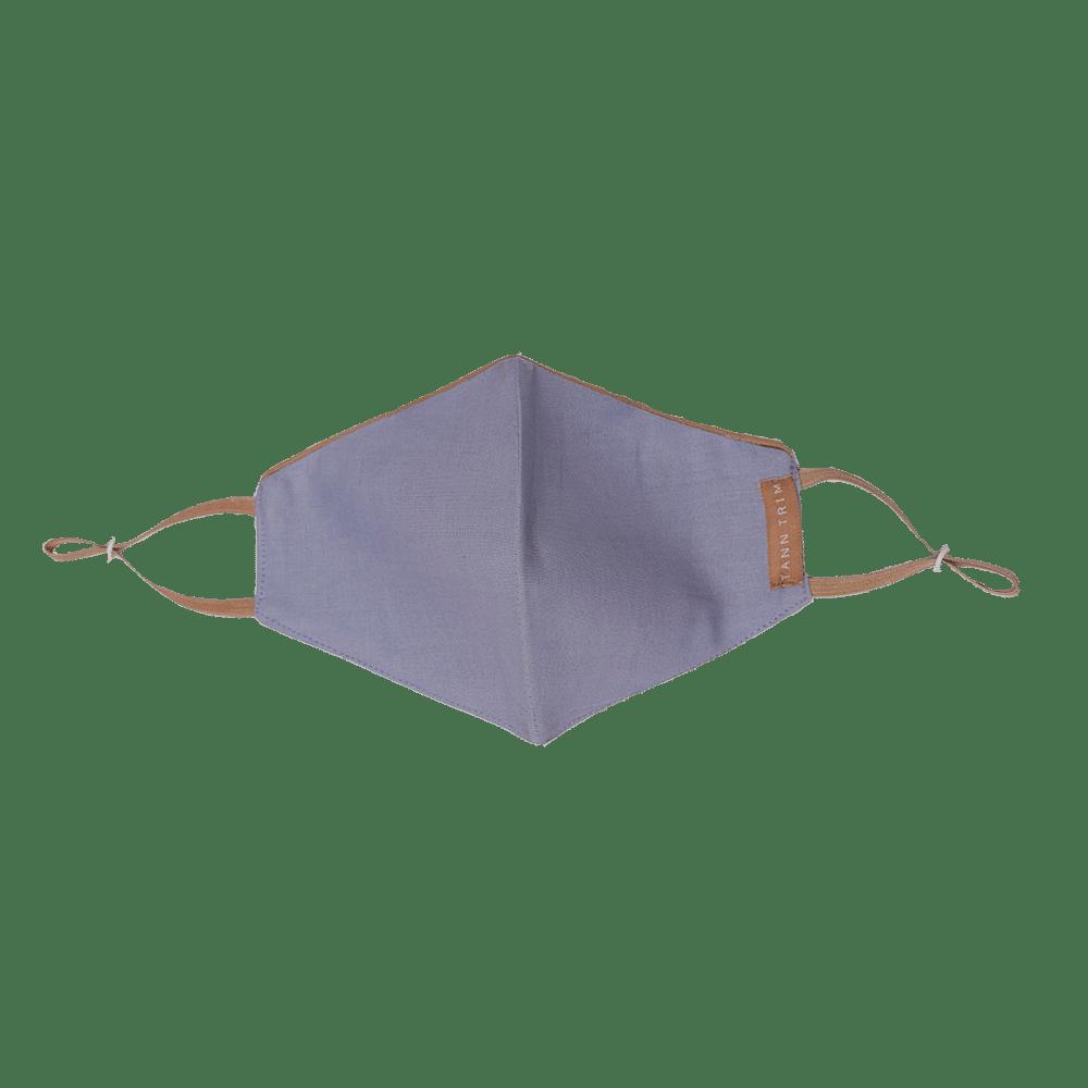 Grayish Blue Breathable Cotton Mask - Large