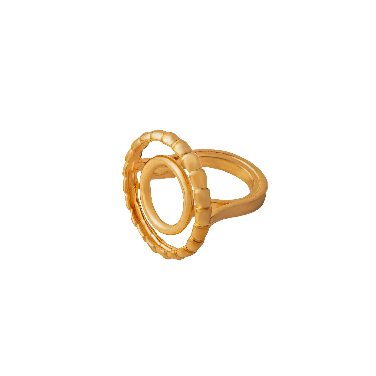 Concentric Circle 22Kt Gold Plated RIng