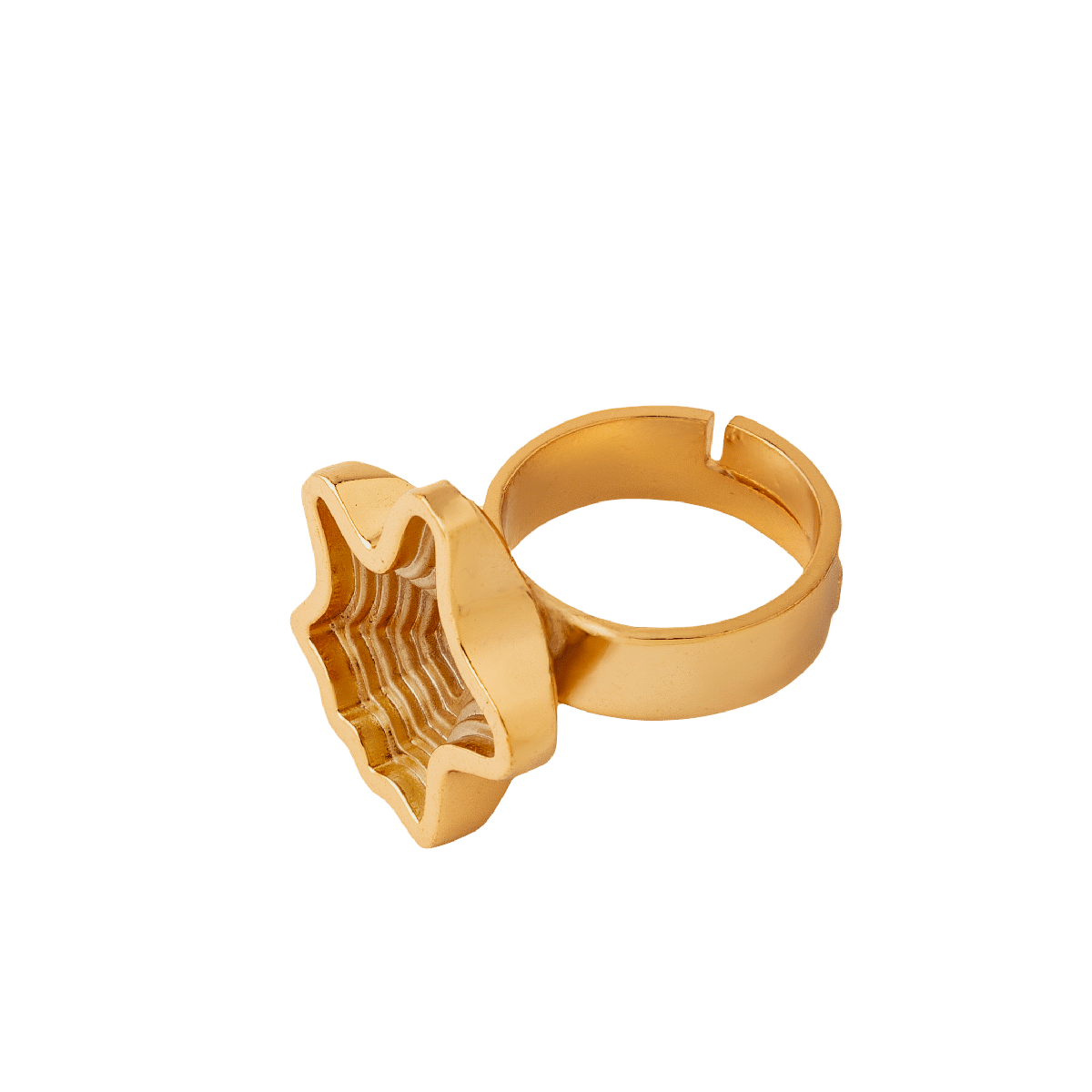Layered 22Kt Gold Plated Ring