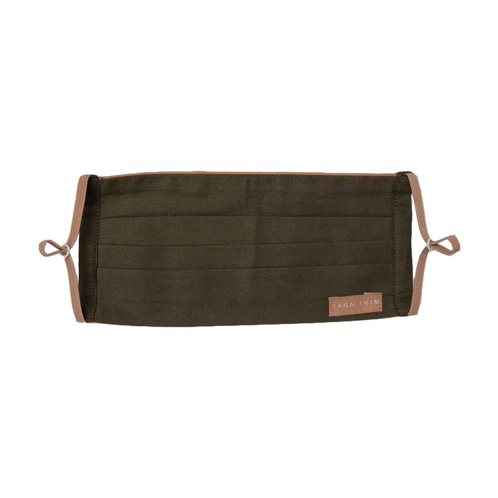 Olive Green Breathable Cotton Mask
