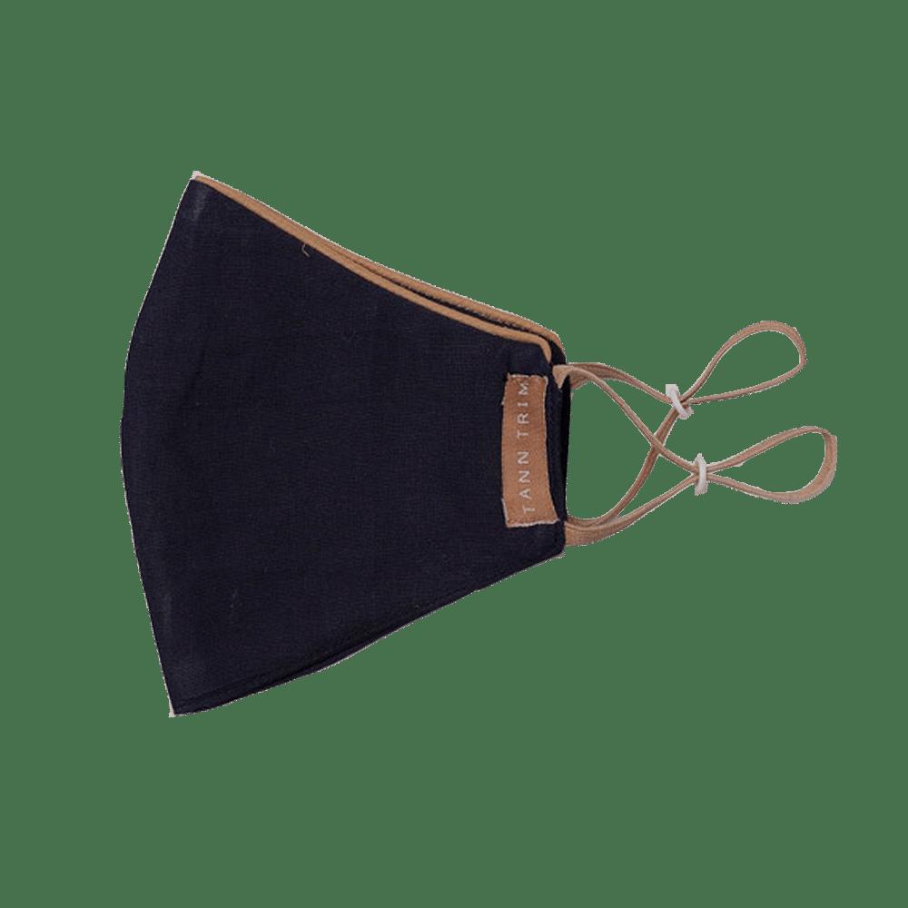 Black Breathable Cotton Mask - Large