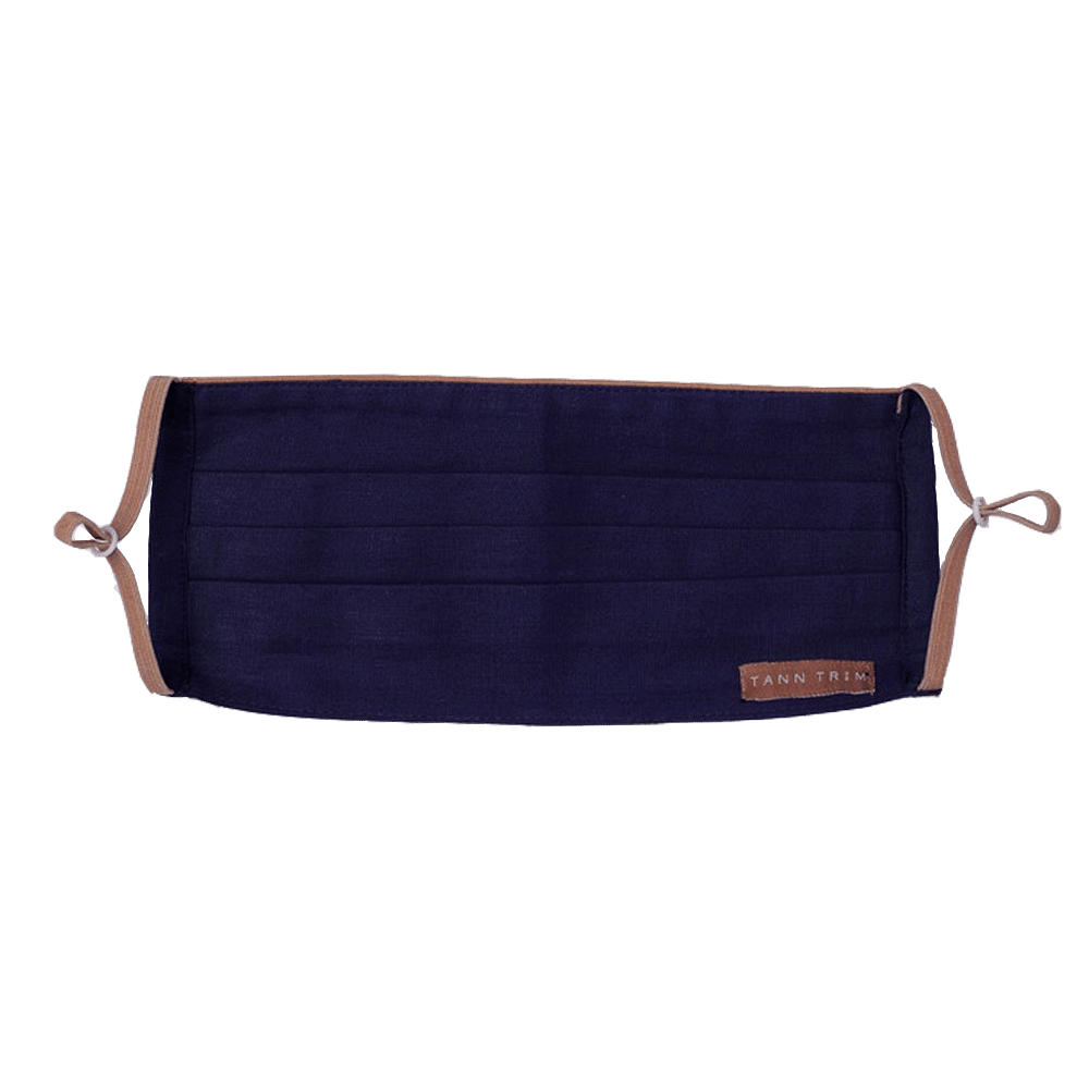 Navy Blue Breathable Cotton Mask