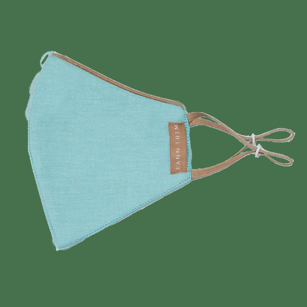 Breeze Blue Breathable Cotton Mask - Large