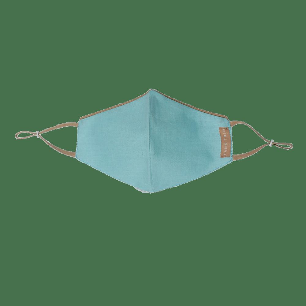Breeze Blue Breathable Cotton Mask - Regular