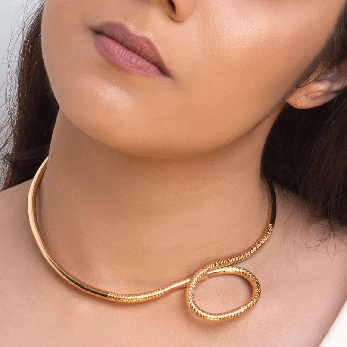 A-symmetrical 22 Kt Hasli Necklace