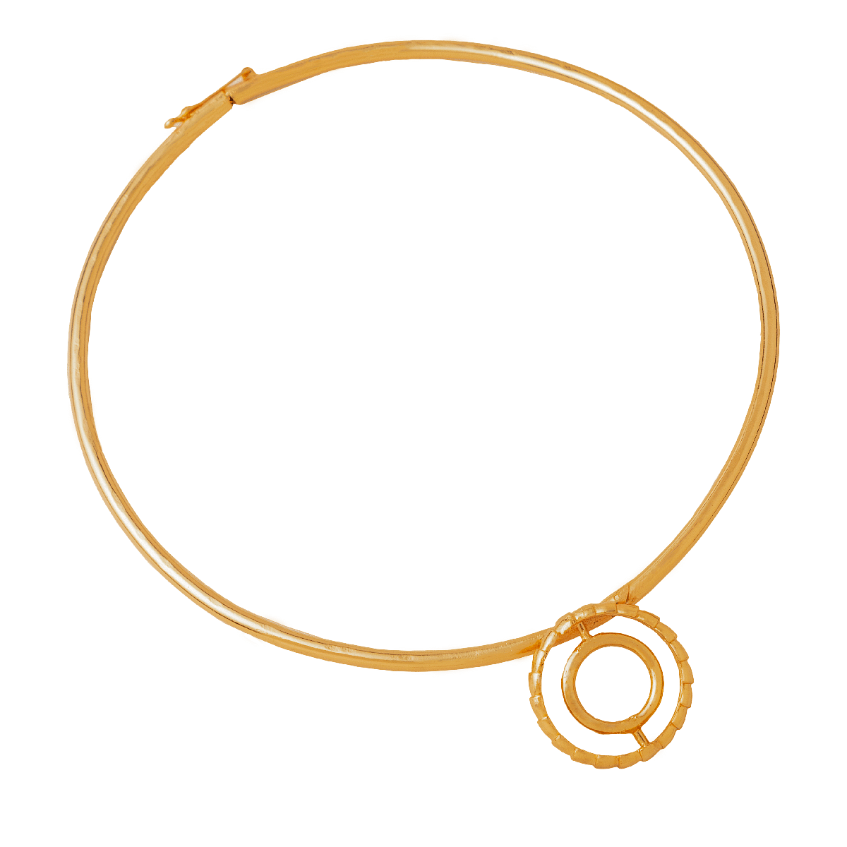 Concentric Circle Hasli Necklace