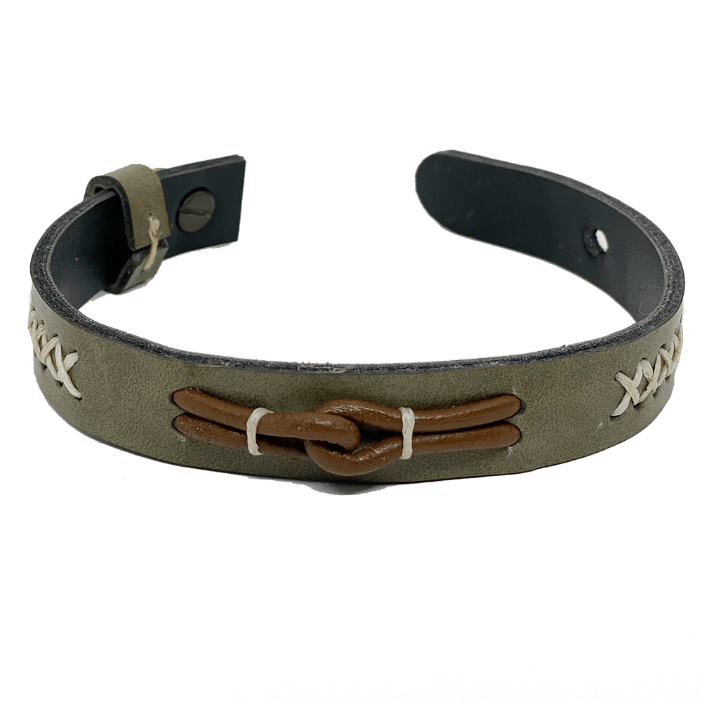 Olive Green Hand-Stitched Band
