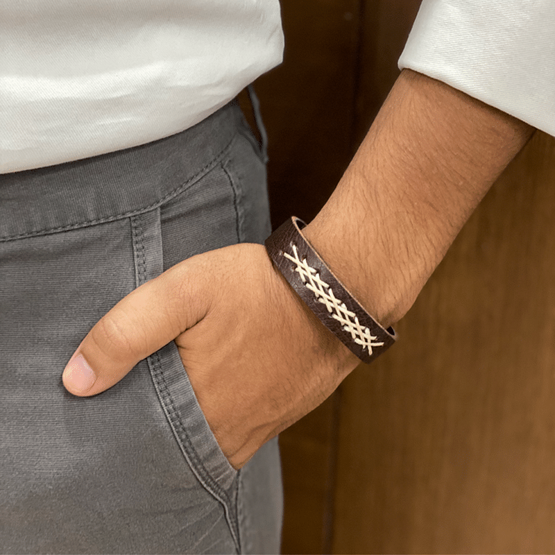 Dark Brown Hand-Crafted Band