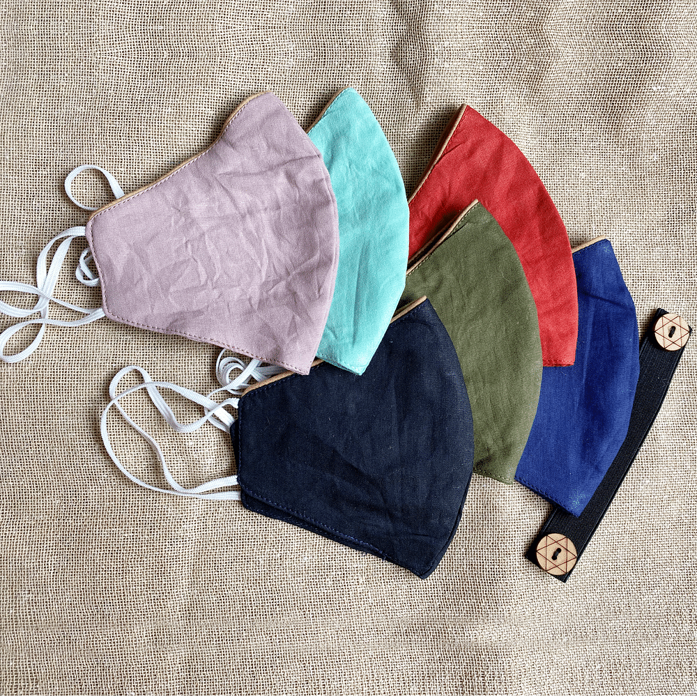 Set of 6: Reusable Mask With Neckband