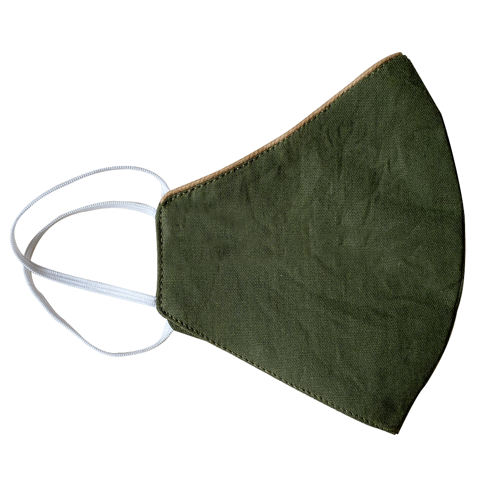 Set of 3: Breathable Cotton Mask With Neckband