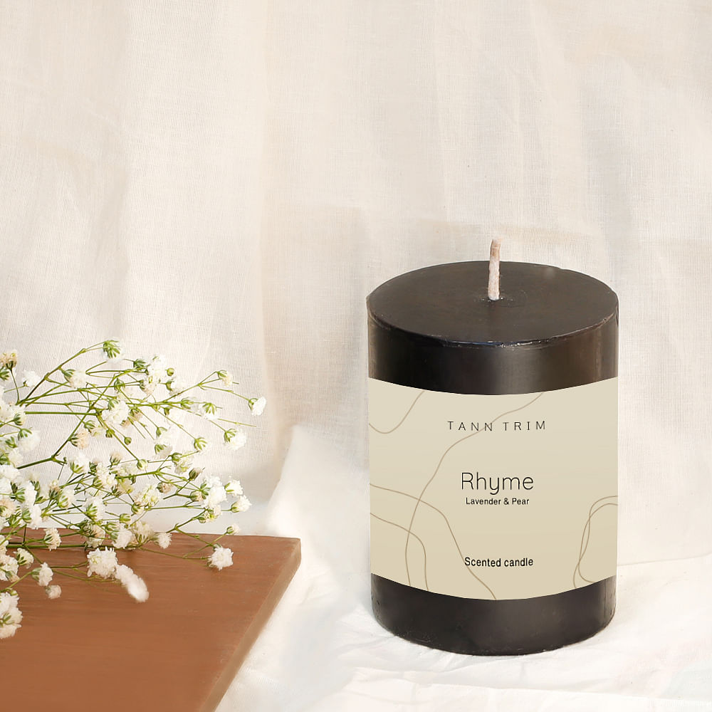 RHYME: Lavender Scented Medium Candle