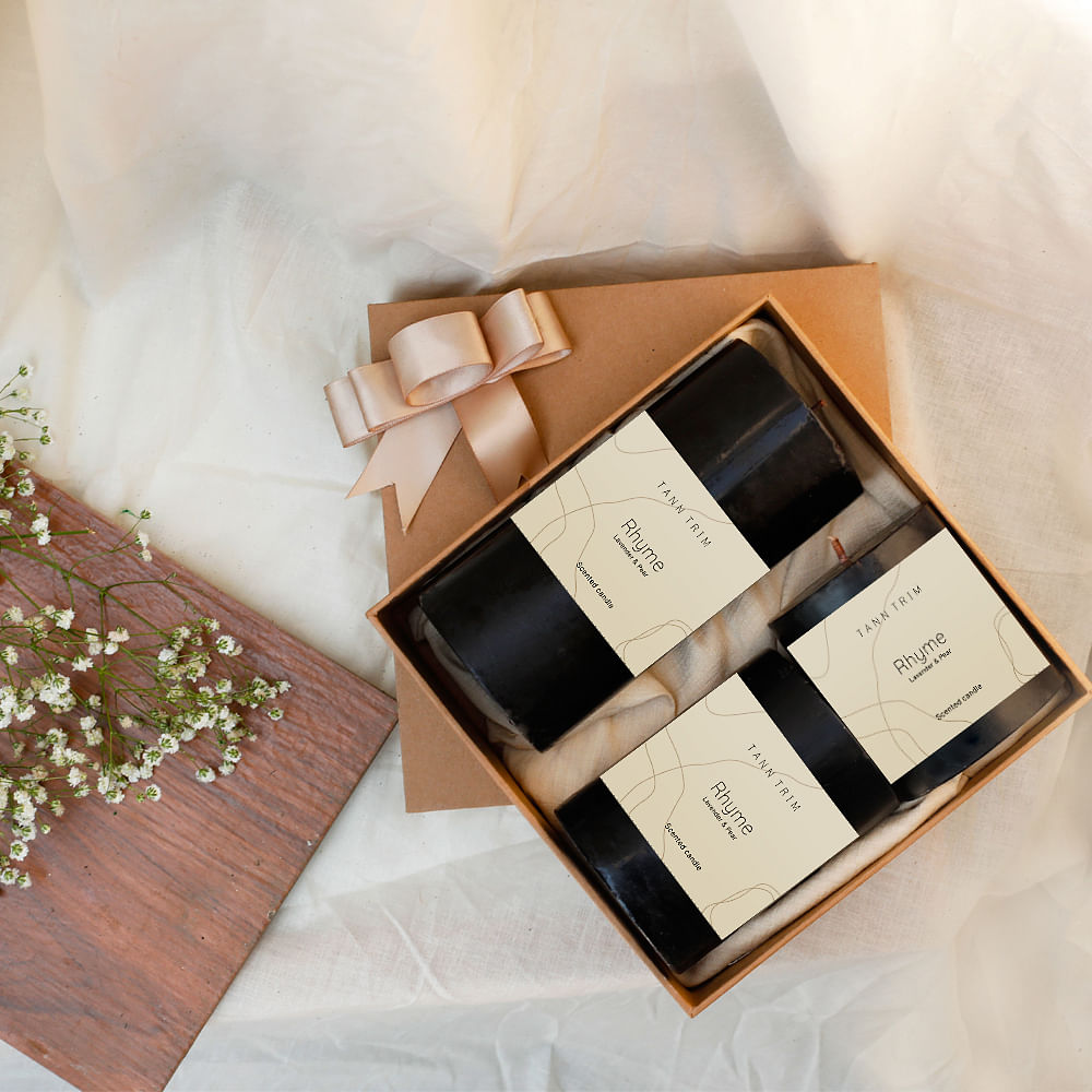 RHYME: Lavender Scented Candle Gift Box