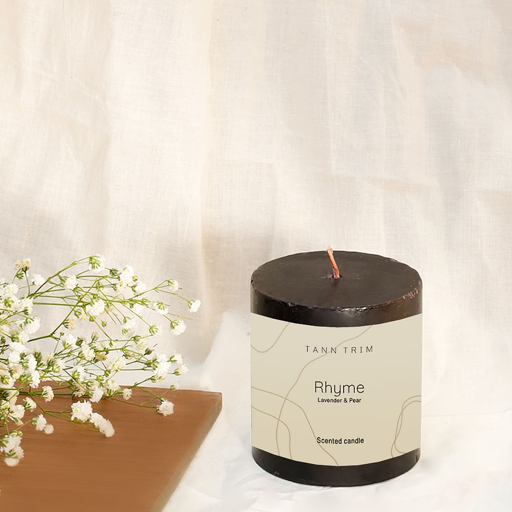 """RHYME: Lavender Scented 3"""" Candle"""