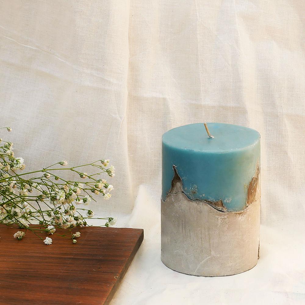 "BALANCE: Concrete 4"" Pillar Candle"