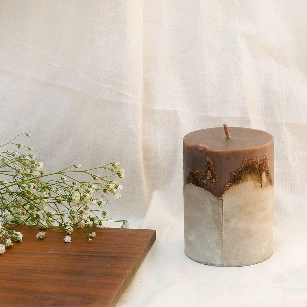 "BALANCE: Concrete 4"" Candle"